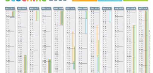 Calendrier : les dates des vacances scolaires jusqu'en 2018